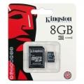 Memoria MicroSD Kingston 8GB class 4 con Adaptador