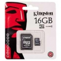 Memoria MicroSD Kingston 16GB class 10 con Adaptador