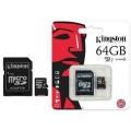 TARJETA MICROSD KINGSTON 64GB  CLASS 10